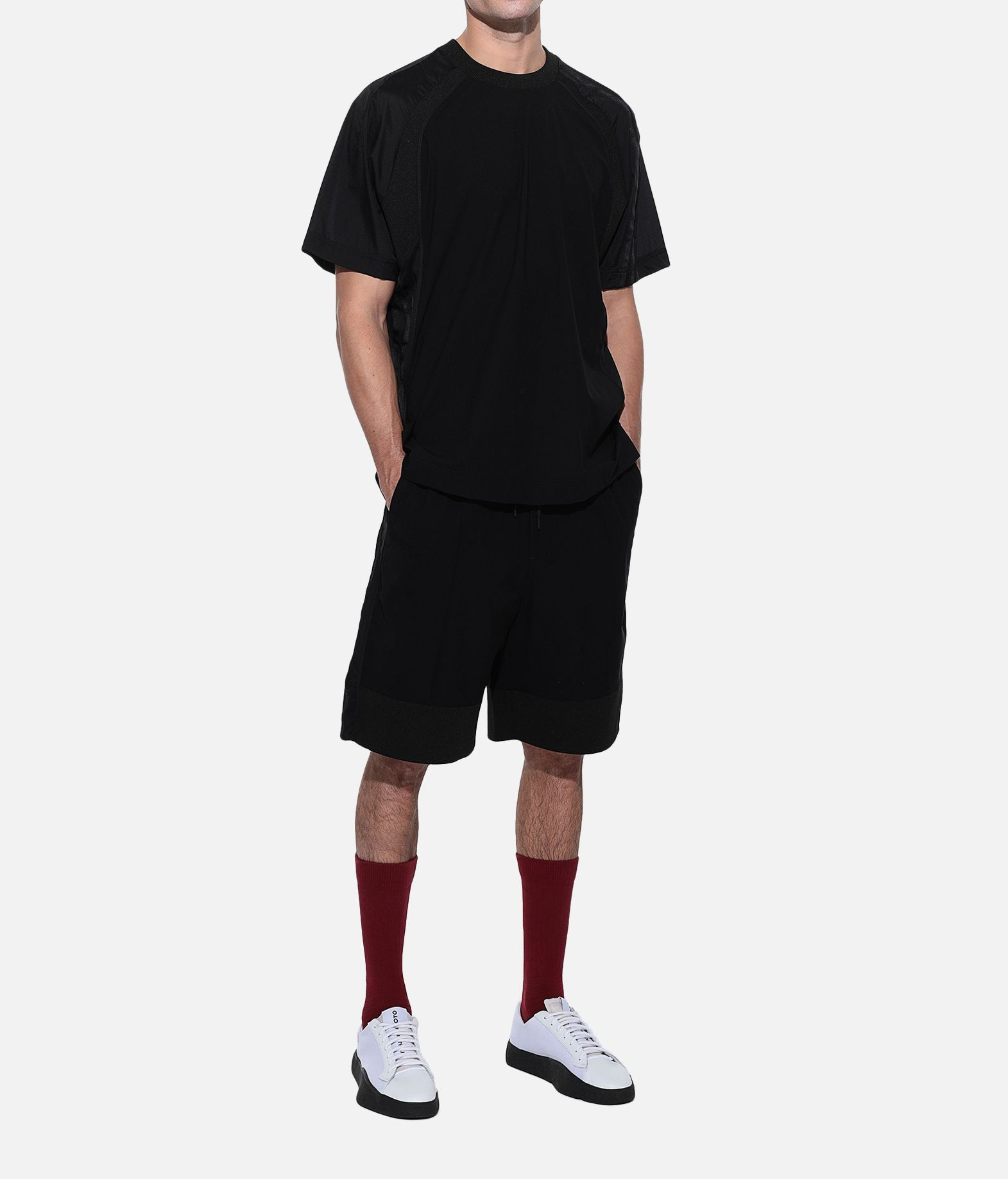 Y-3 Y-3 3-Stripes Material Mix Tee Short sleeve t-shirt Man a