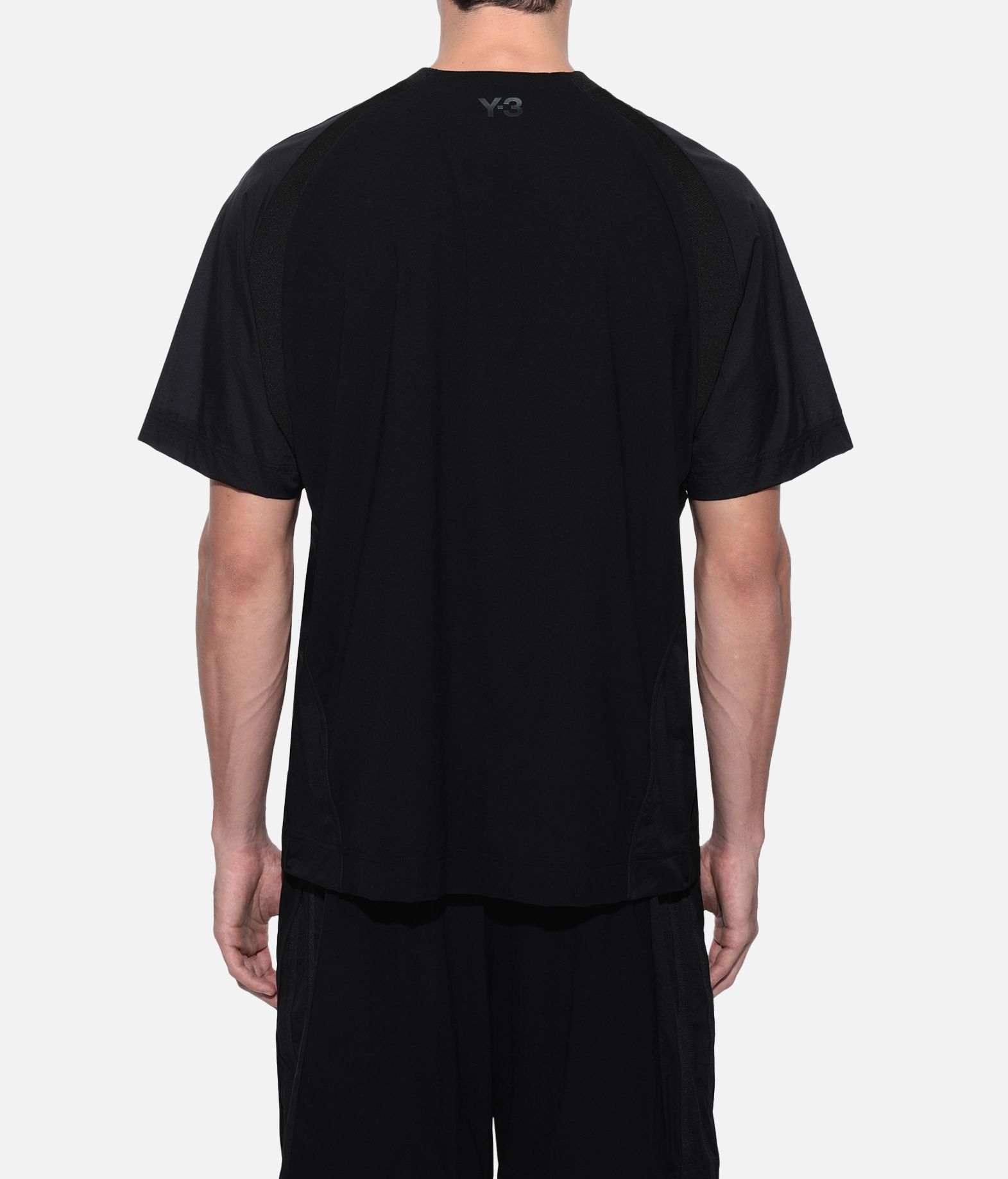 Y-3 Y-3 3-Stripes Material Mix Tee Short sleeve t-shirt Man d