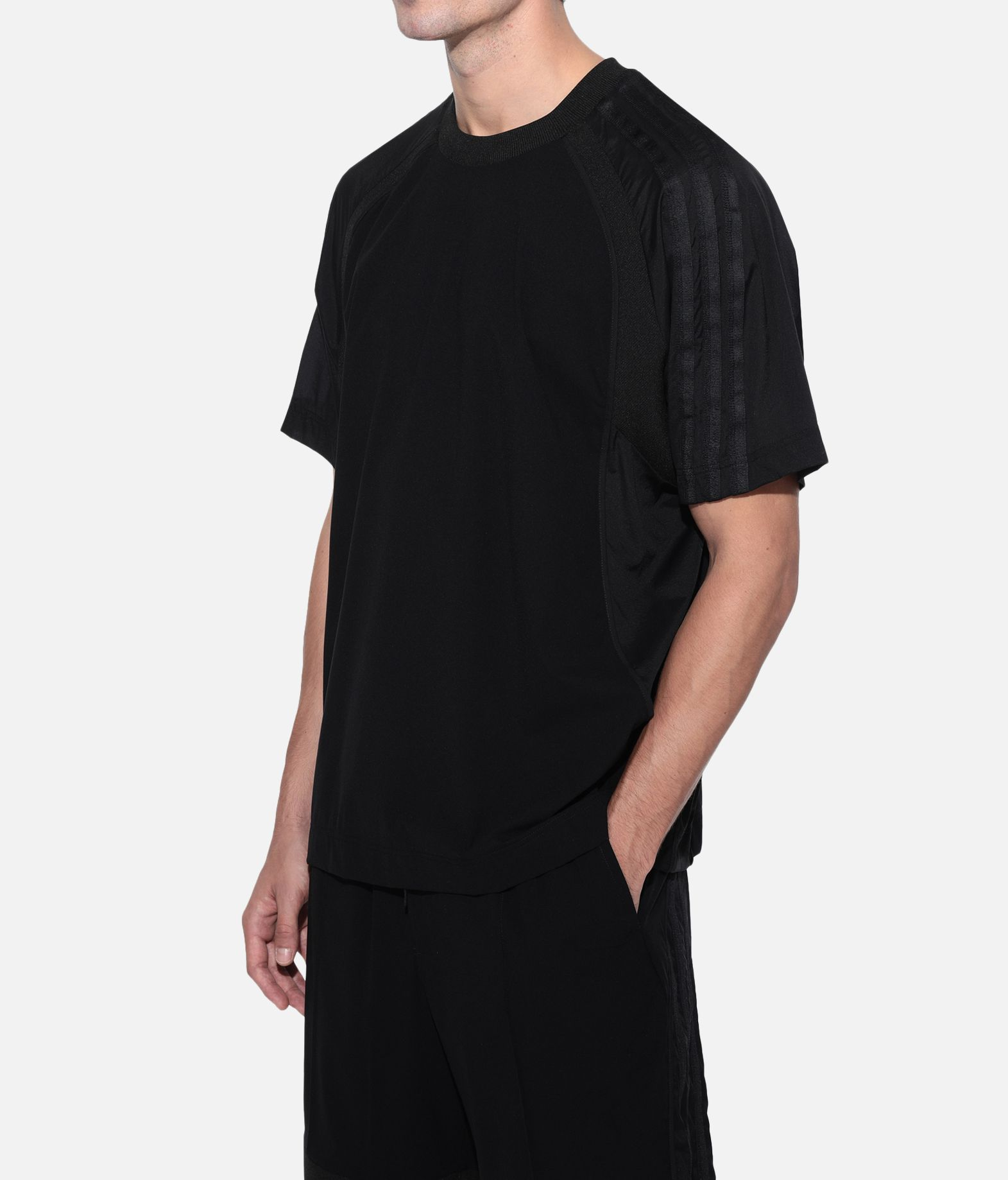 Y-3 Y-3 3-Stripes Material Mix Tee Short sleeve t-shirt Man e