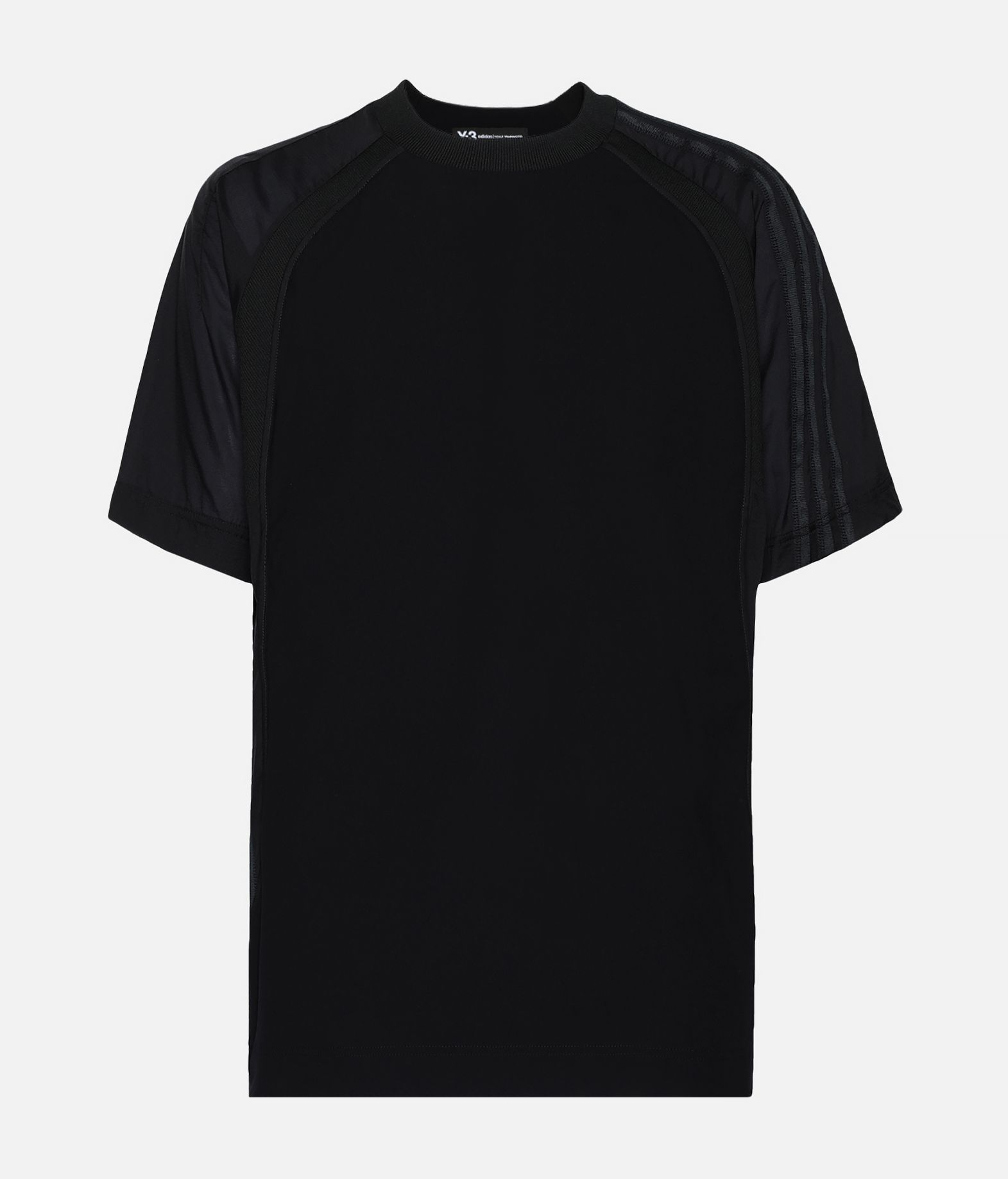 Y-3 Y-3 3-Stripes Material Mix Tee Short sleeve t-shirt Man f