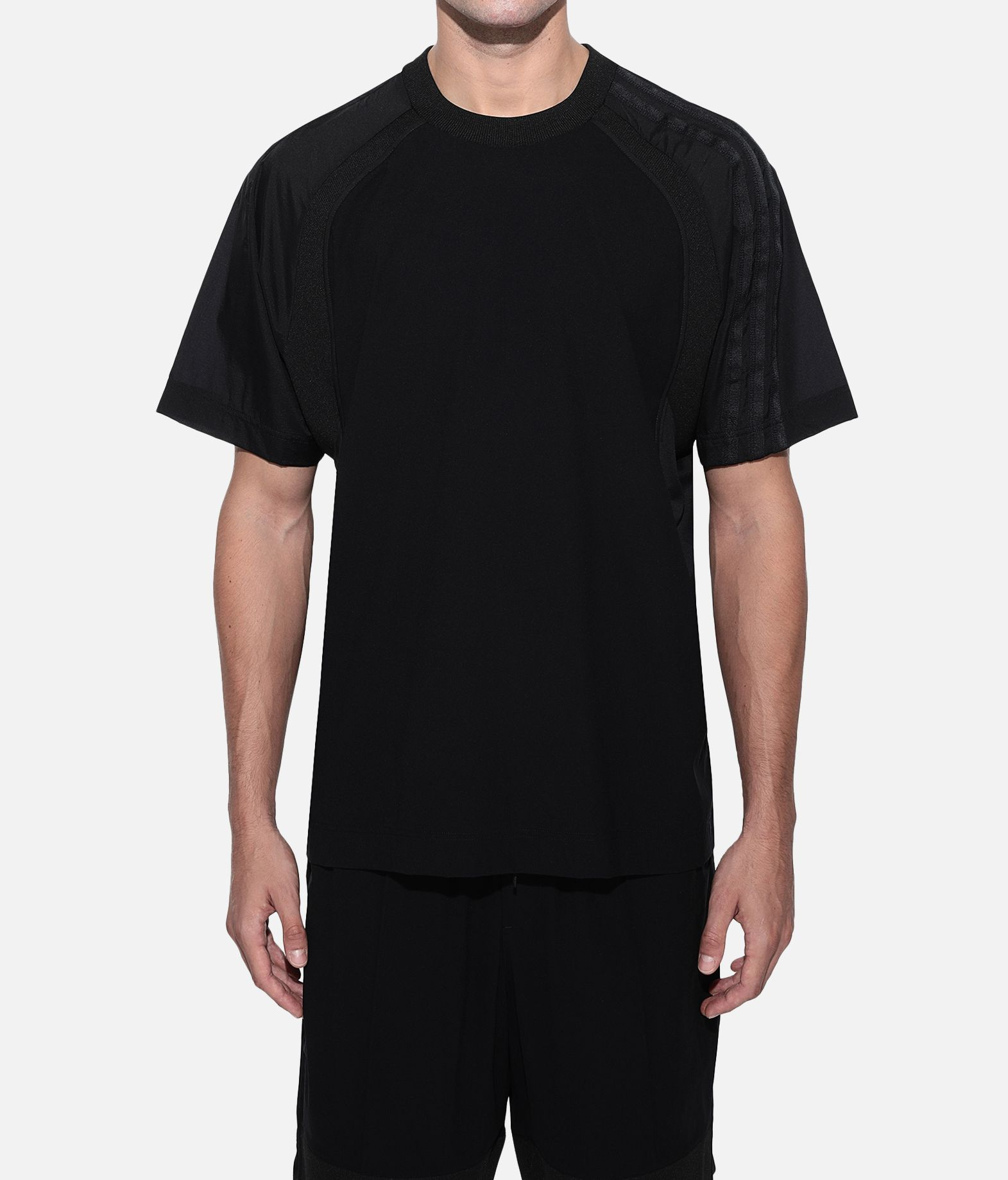 Y-3 Y-3 3-Stripes Material Mix Tee Short sleeve t-shirt Man r