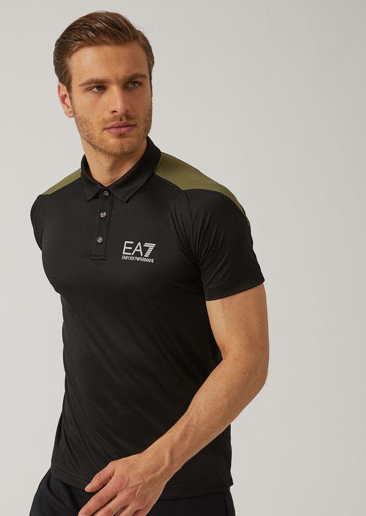 b02e1e0632 Breathable Ventus 7 technical fabric polo shirt   Man   Ea7
