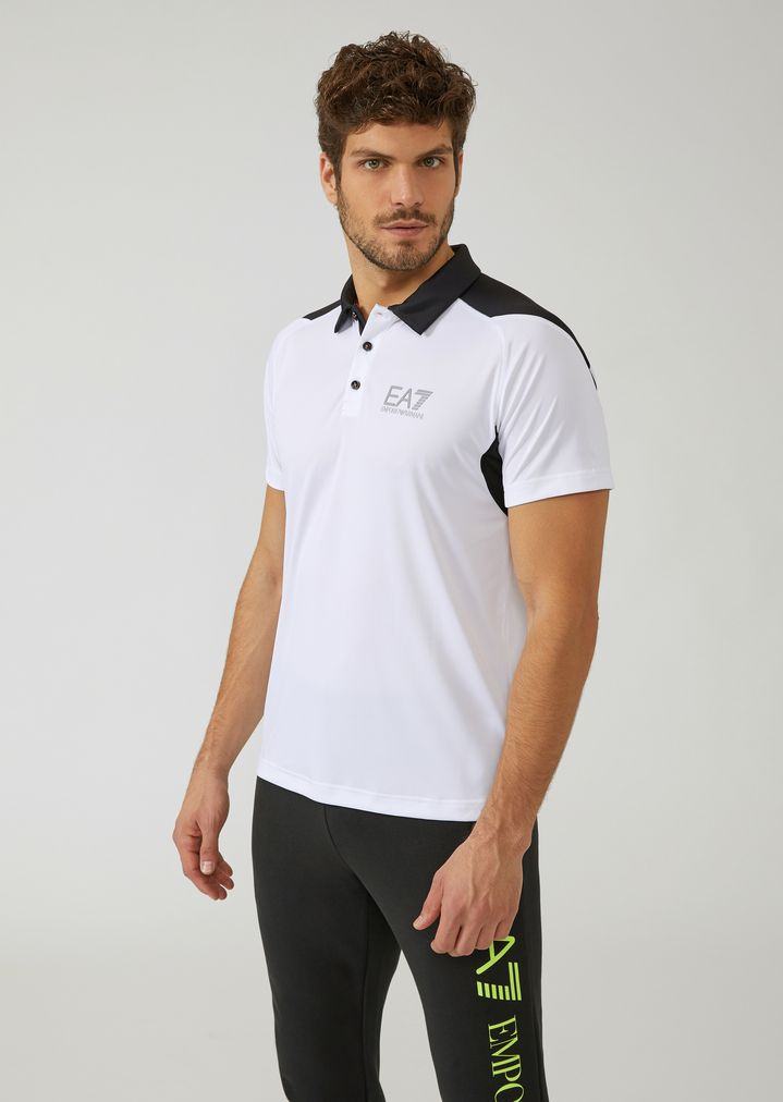 878988fb13 Breathable Ventus 7 technical fabric polo shirt | Man | Ea7