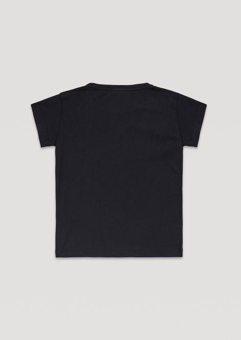 Pure cotton T-shirt with Emporio Armani print