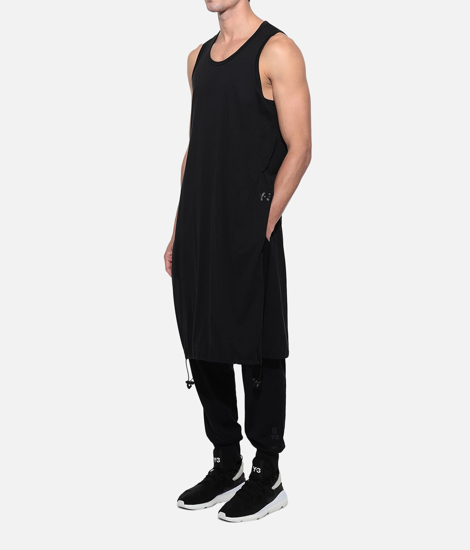 Y-3 Y-3 Drawstring Long Tank Top  Canotta Uomo e