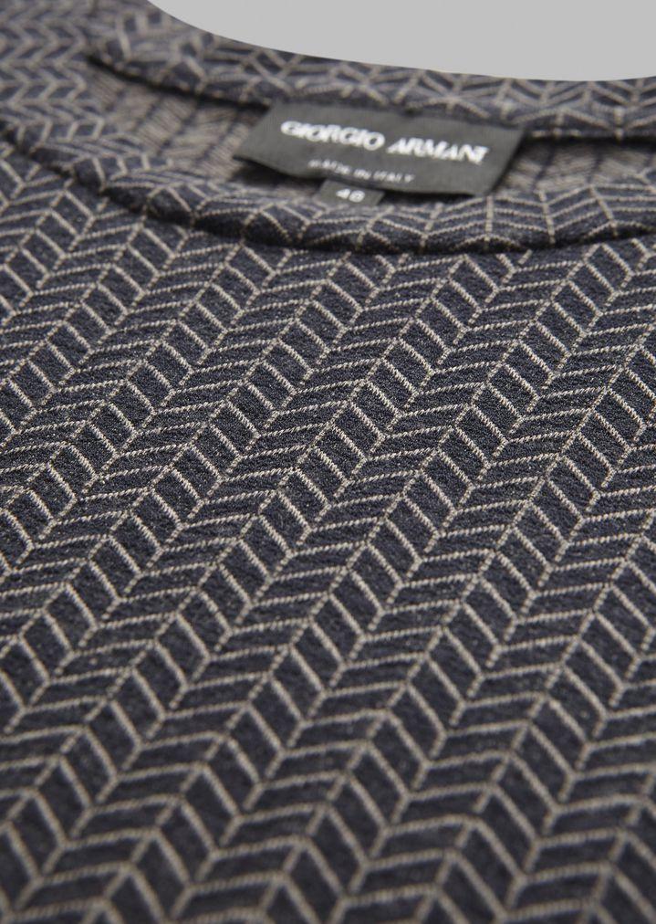GIORGIO ARMANI Viscose T-shirt with chevron pattern T-Shirt Man b