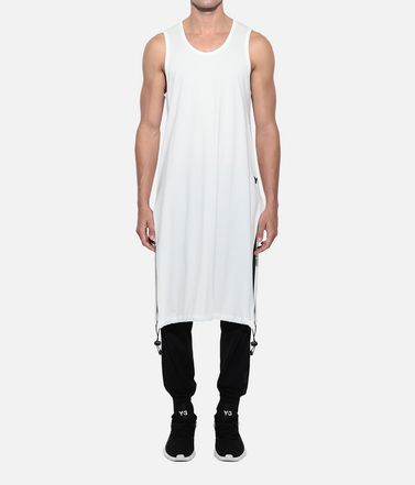 Y-3 タンクトップ メンズ Y-3 Drawstring Long Tank Top  r