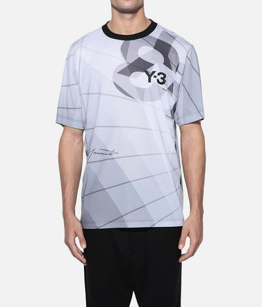 Y-3 Short sleeve t-shirt Man Y-3 AOP Football Shirt r