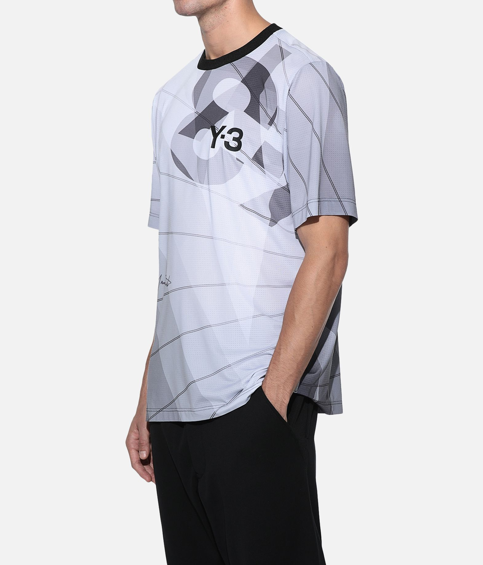 Y-3 Y-3 AOP Football Shirt Short sleeve t-shirt Man e