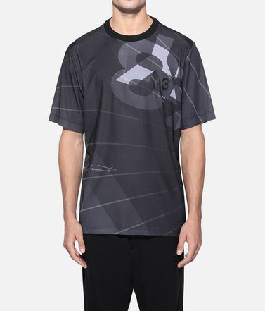 Y-3 Kurzärmliges T-shirt Herren Y-3 AOP Football Shirt r