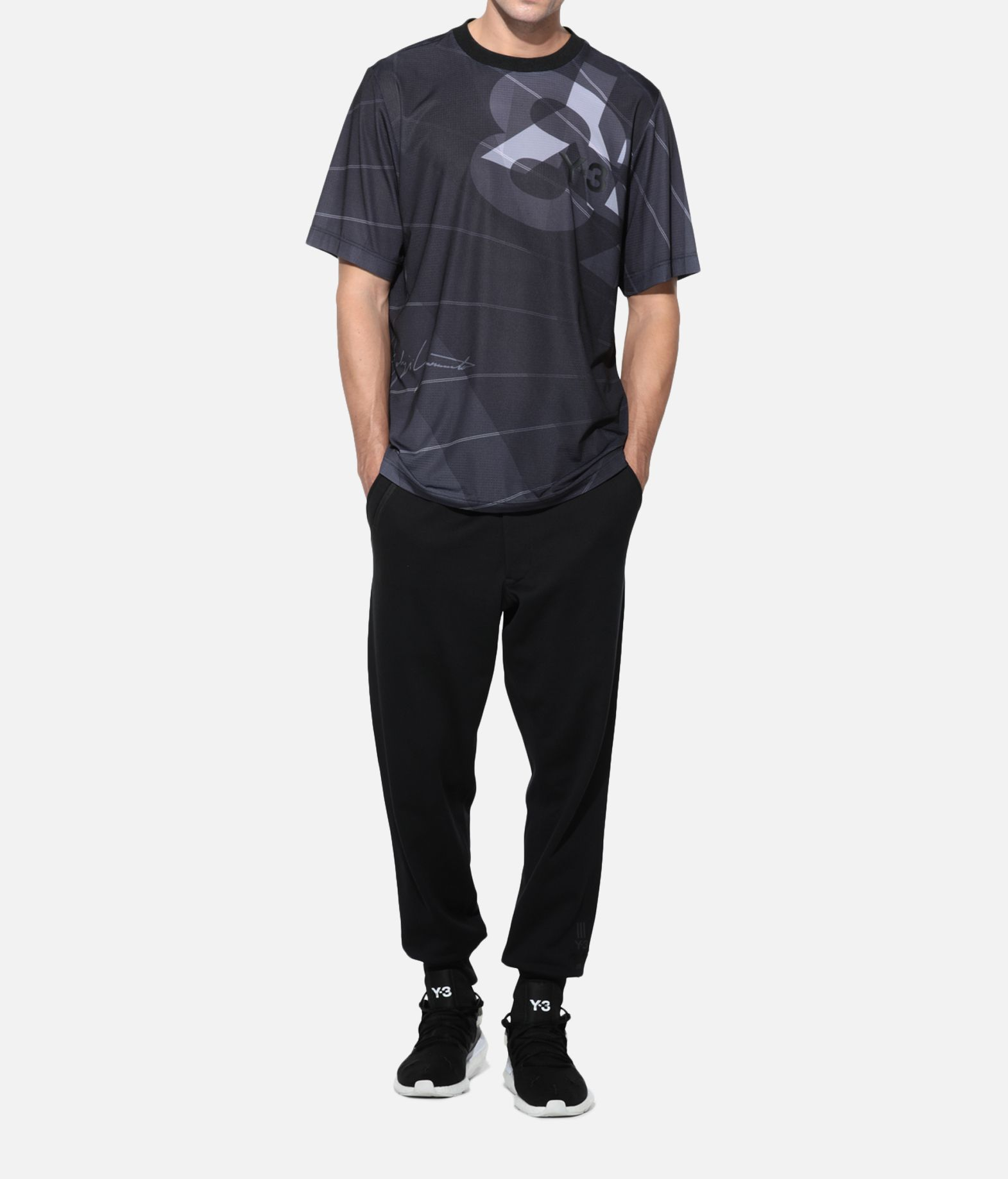 Y-3 Y-3 AOP Football Shirt Short sleeve t-shirt Man a
