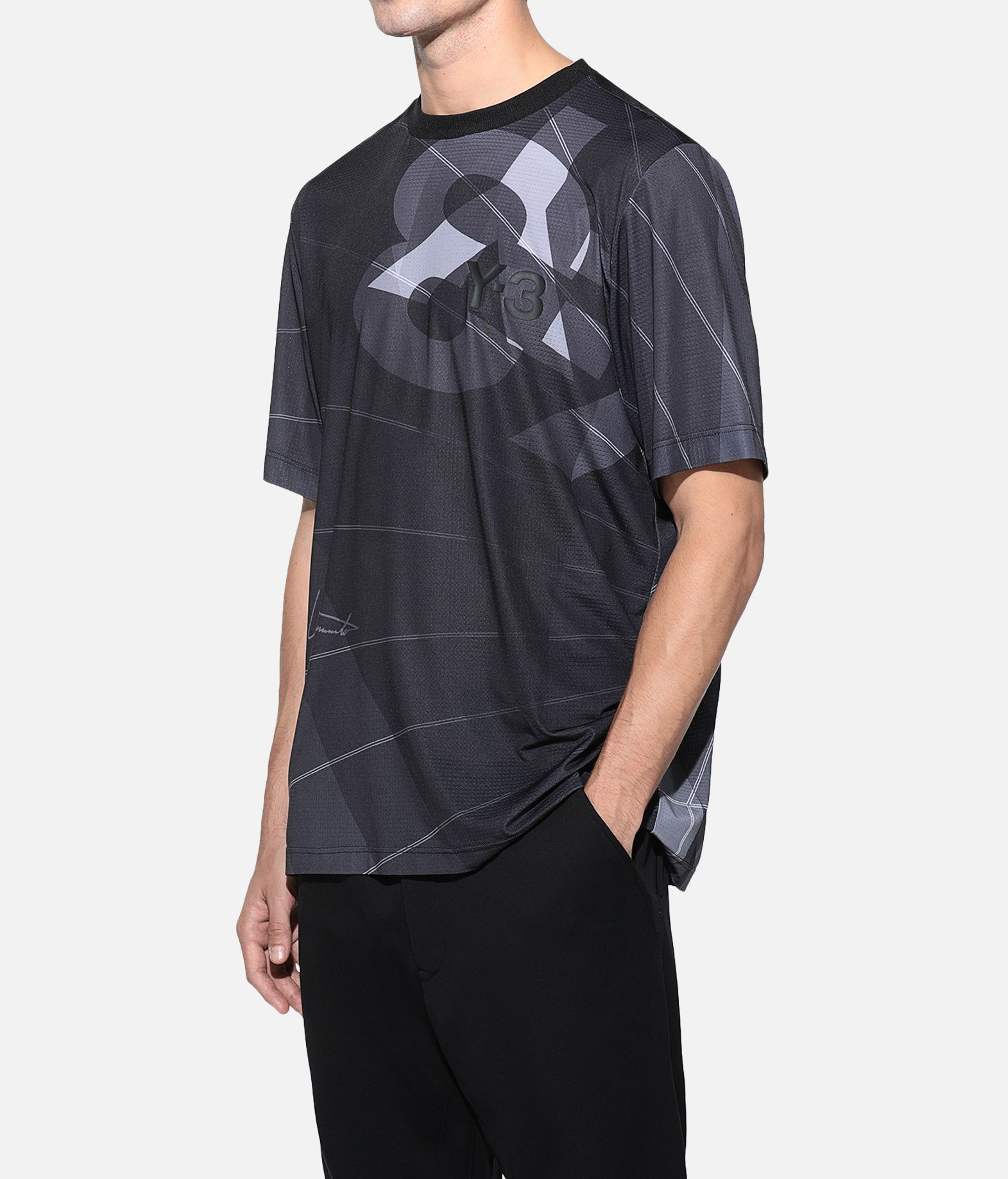 Y-3 Y-3 AOP Football Shirt Kurzärmliges T-shirt Herren e