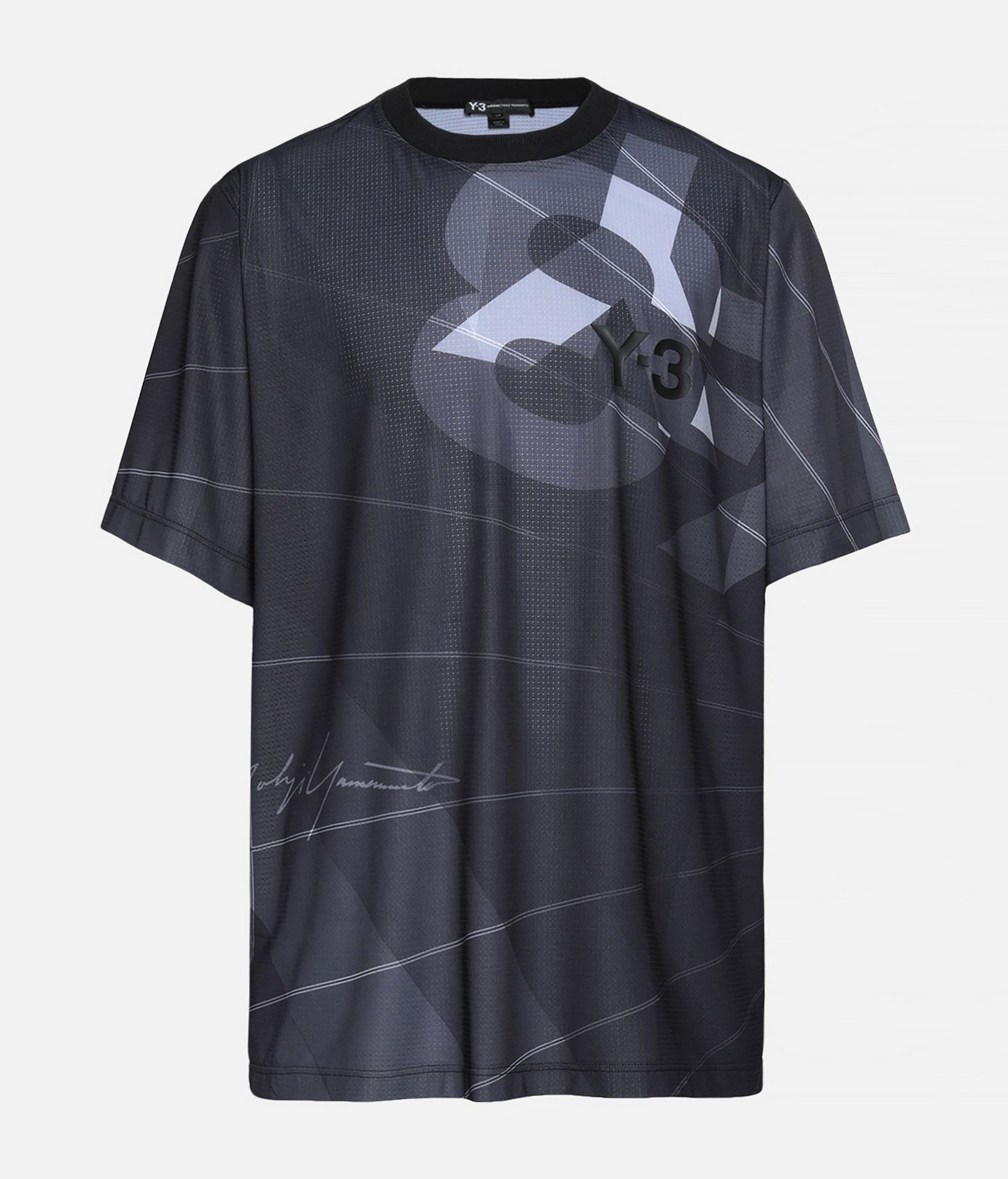 Y-3 Y-3 AOP Football Shirt Kurzärmliges T-shirt Herren f