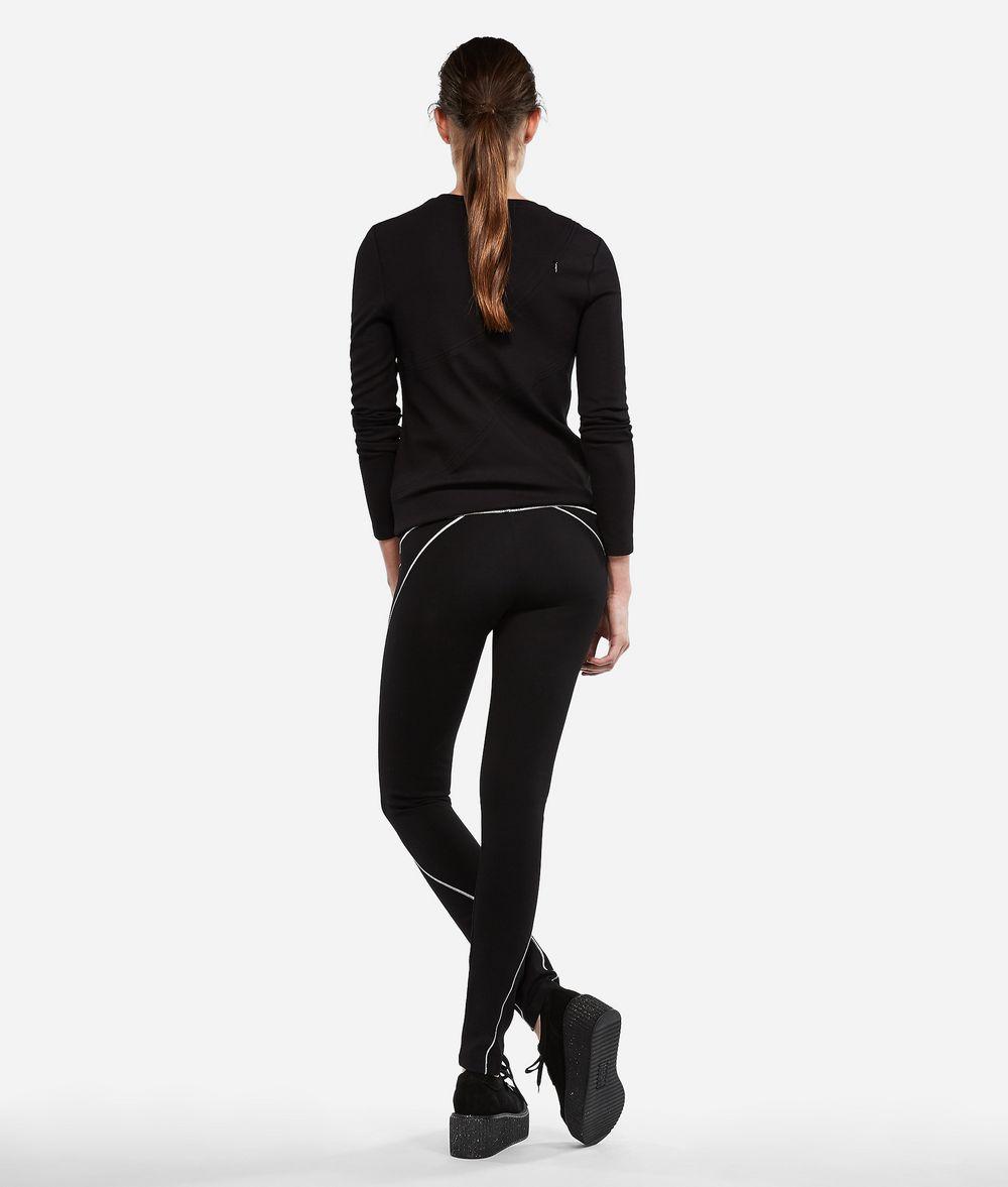 KARL LAGERFELD Zipper Shoulder Logo T-shirt T-shirt Woman d