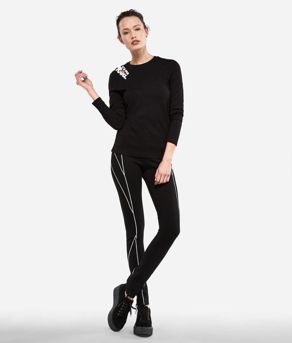 KARL LAGERFELD Zipper Shoulder Logo T-shirt T-shirt Woman f