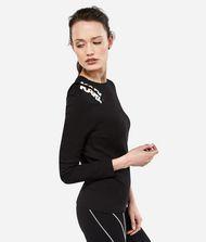 KARL LAGERFELD Zipper Shoulder Logo T-shirt 9_f