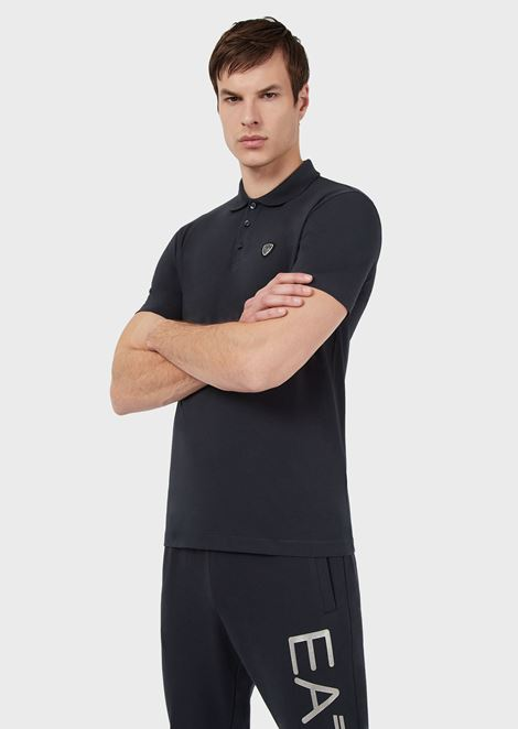 92d54686 Stretch cotton polo shirt with logo on the front