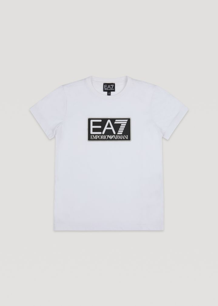 detailed look special for shoe best sneakers Boys' cotton T-shirt with EA7 logo | Man | Ea7