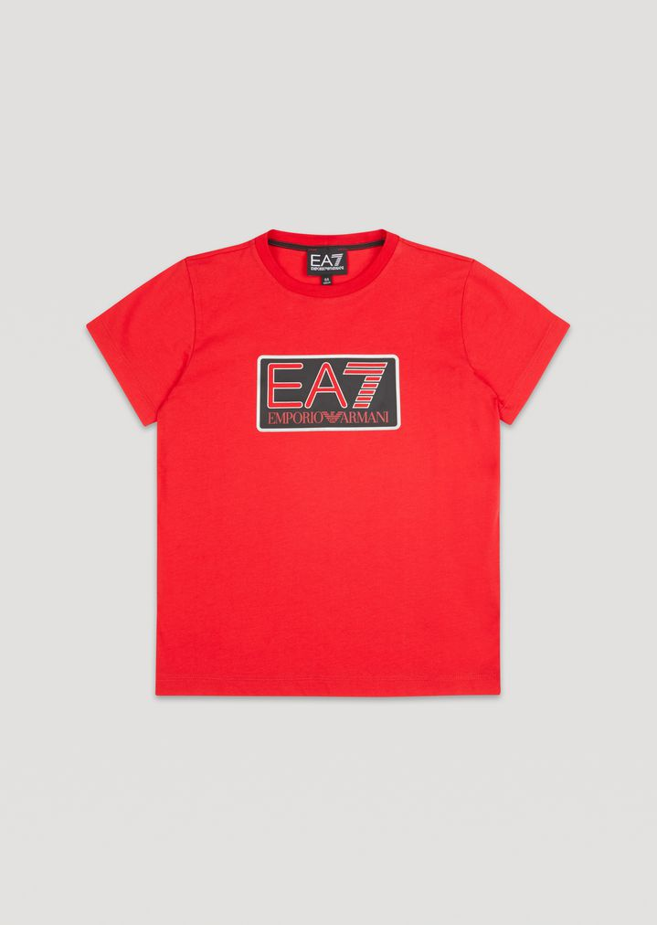 11fce0b3e1 T-shirt da bambino in cotone con logo EA7