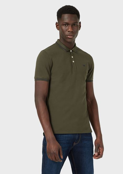 a5317c37f Polo shirt in stretch cotton
