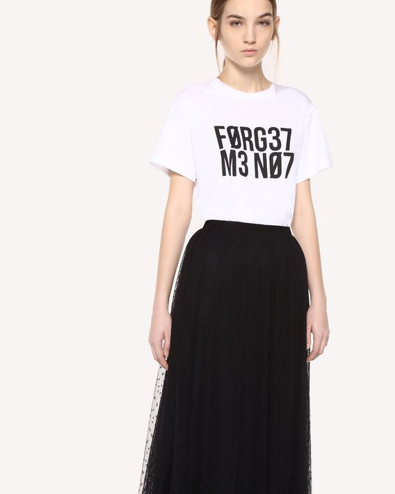 "REDValentino ""Forget Me Not"" print T-shirt"