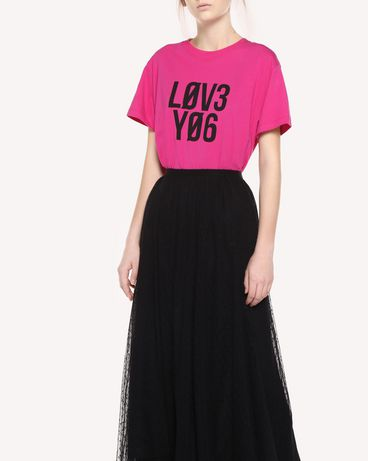 REDValentino QR0MG10E47B FA9 T-Shirt Woman d