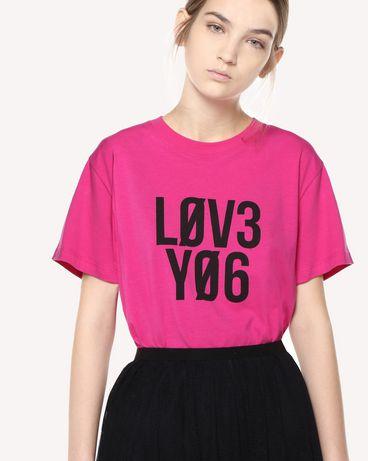REDValentino QR0MG10E47B FA9 T-Shirt Woman e