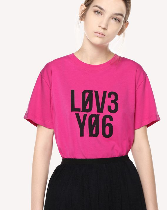 "REDValentino ""Love You"" print T-shirt"