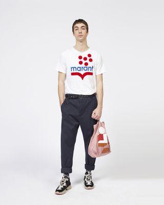 ISABEL MARANT TOP Homme KARMAN printed Tshirt r