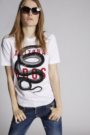 DSQUARED2 Short sleeve t-shirt Woman S75GC0951S22146857M m