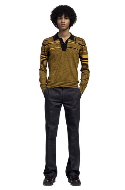 MISSONI Men's polo Ochre Man - Back