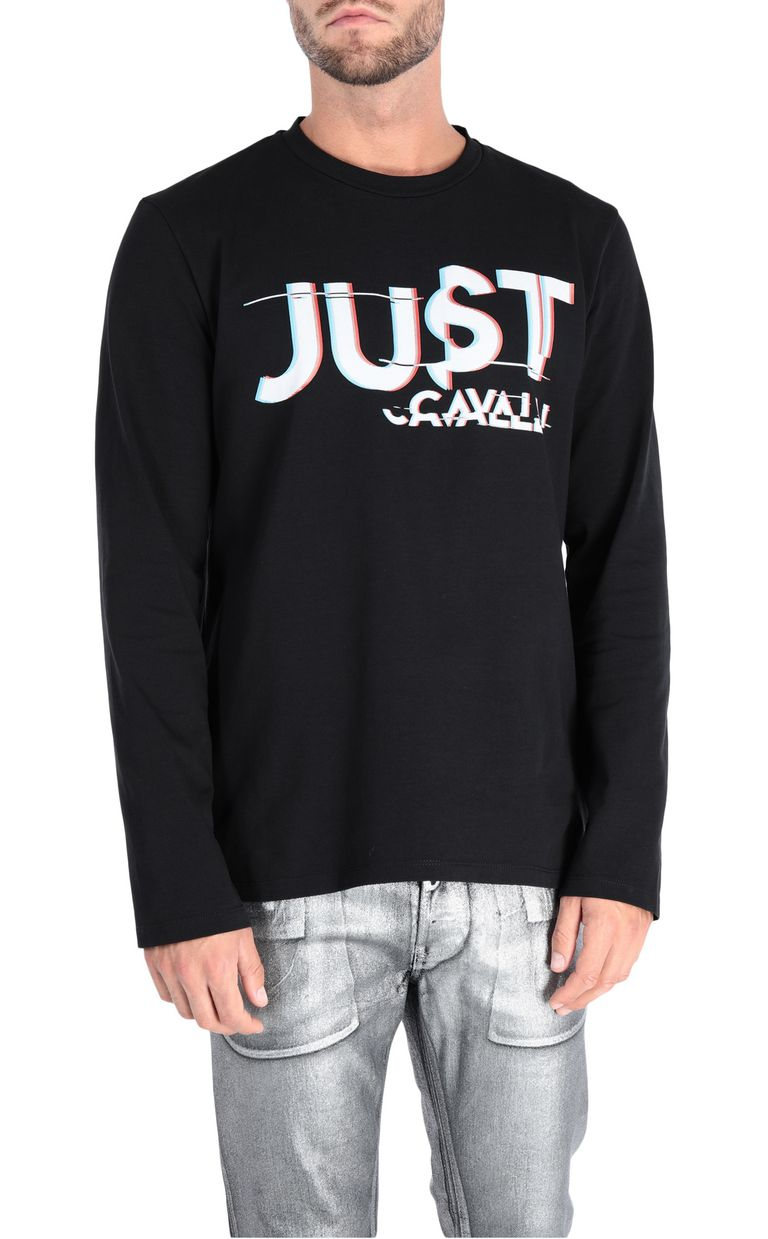 JUST CAVALLI Rebel Control T-shirt Long sleeve t-shirt [*** pickupInStoreShippingNotGuaranteed_info ***] f