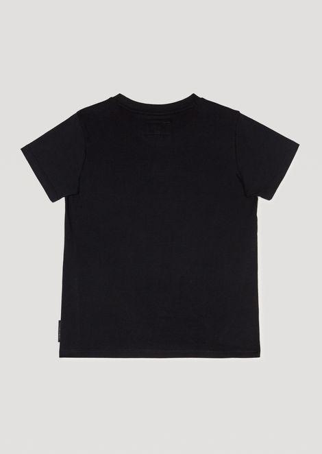 T-shirt en jersey de coton avec logo camouflage