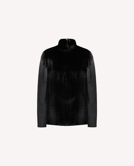 REDValentino Velvet high-neck top