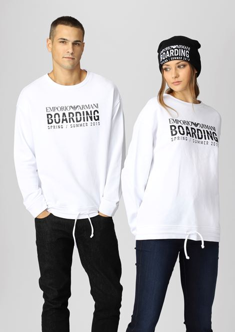 Sweat-shirt collection capsule Emporio Armani Boarding