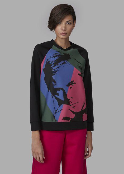 Sweatshirt with Giorgio Armani photographic print