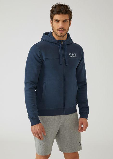 eeeee44d1d9d Sweat-shirt en coton stretch à capuche et logo surdimensionné imprimé dans  le dos