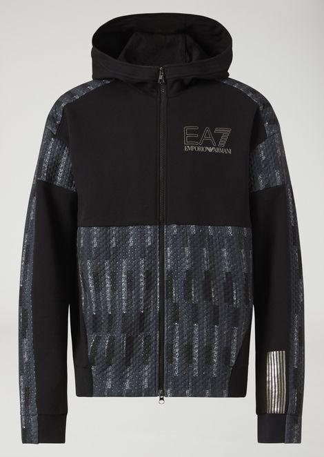 Evo Plus premium technical fabric training sweatshirt with multicoloured pattern