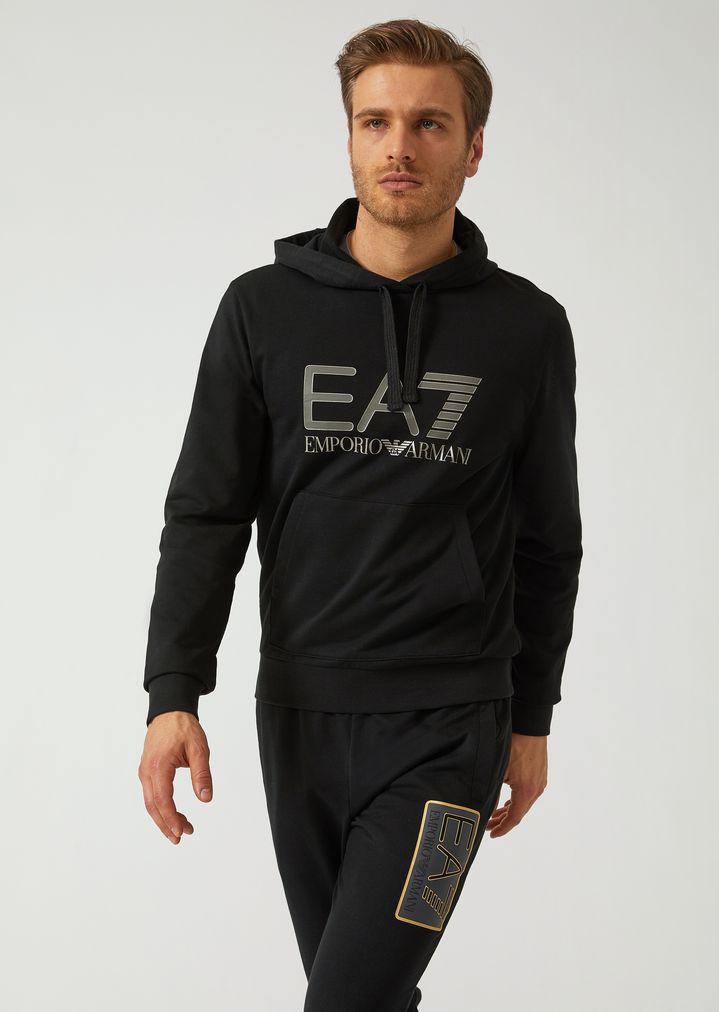 Kapuzensweatshirt mit EA7-Logodruck ff1f01fd45