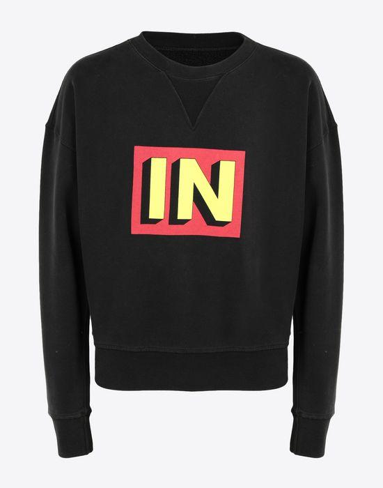 MAISON MARGIELA IN printed jersey sweatshirt Sweatshirt [*** pickupInStoreShippingNotGuaranteed_info ***] f