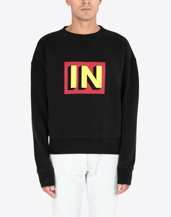 MAISON MARGIELA IN printed jersey sweatshirt Sweatshirt [*** pickupInStoreShippingNotGuaranteed_info ***] r
