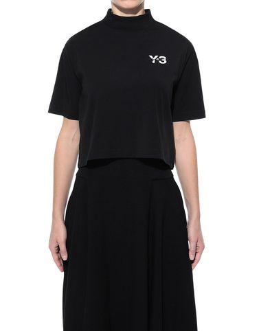 Y-3 Short sleeve t-shirt Woman Y-3 SIGNATURE CROP TEE r
