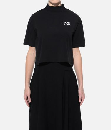 Y-3 Short sleeve t-shirt Woman Y-3 SIGNATURE CROP TEE r