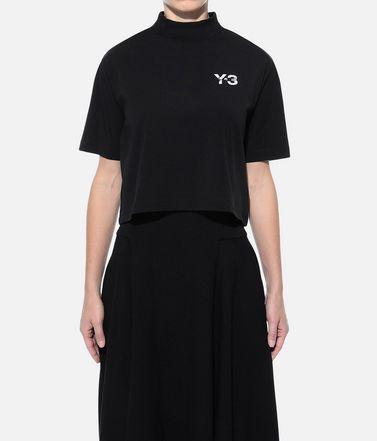 Y-3 T-shirt maniche corte Donna Y-3 SIGNATURE CROP TEE r