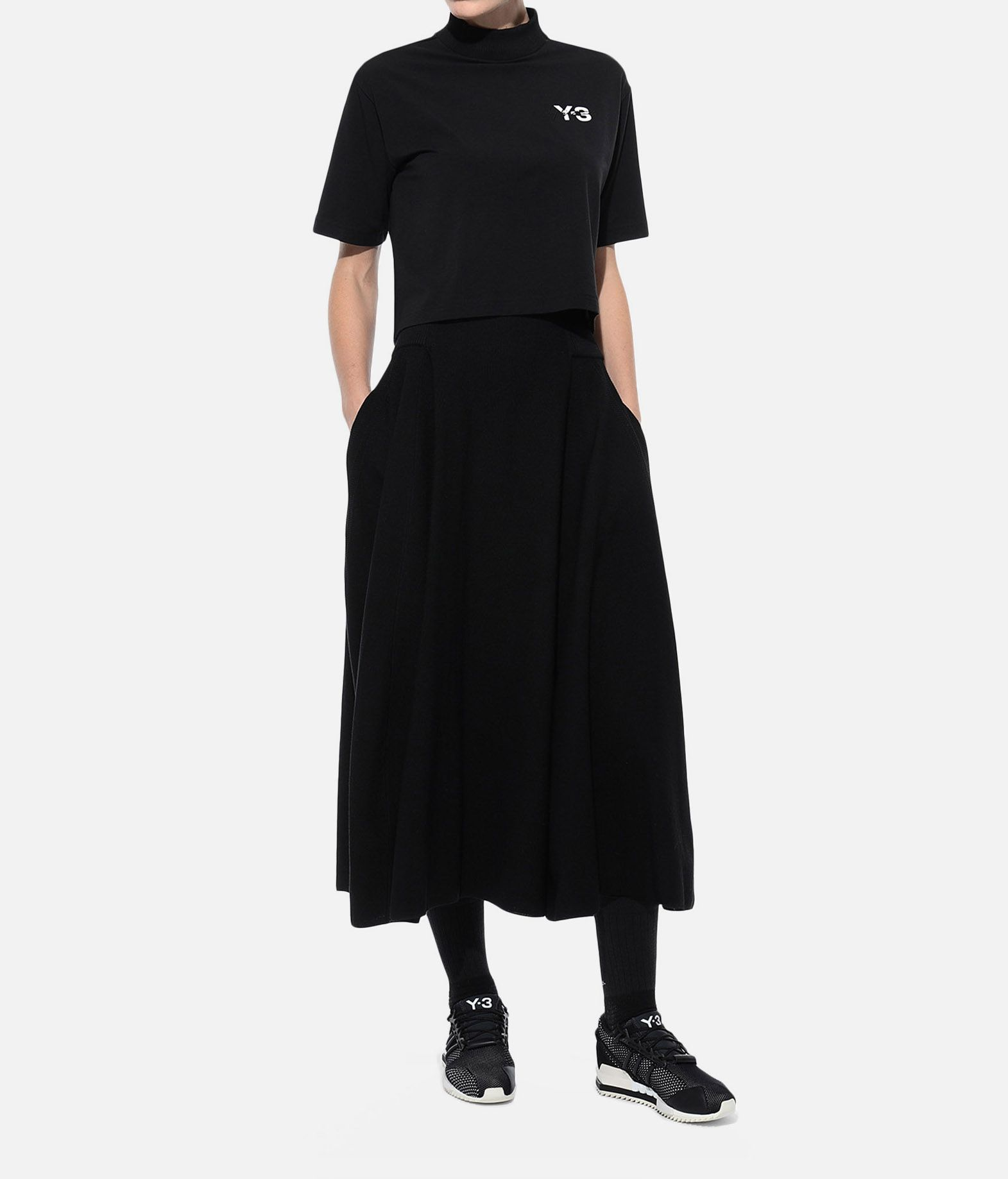 Y-3 Y-3 SIGNATURE CROP TEE Short sleeve t-shirt Woman a