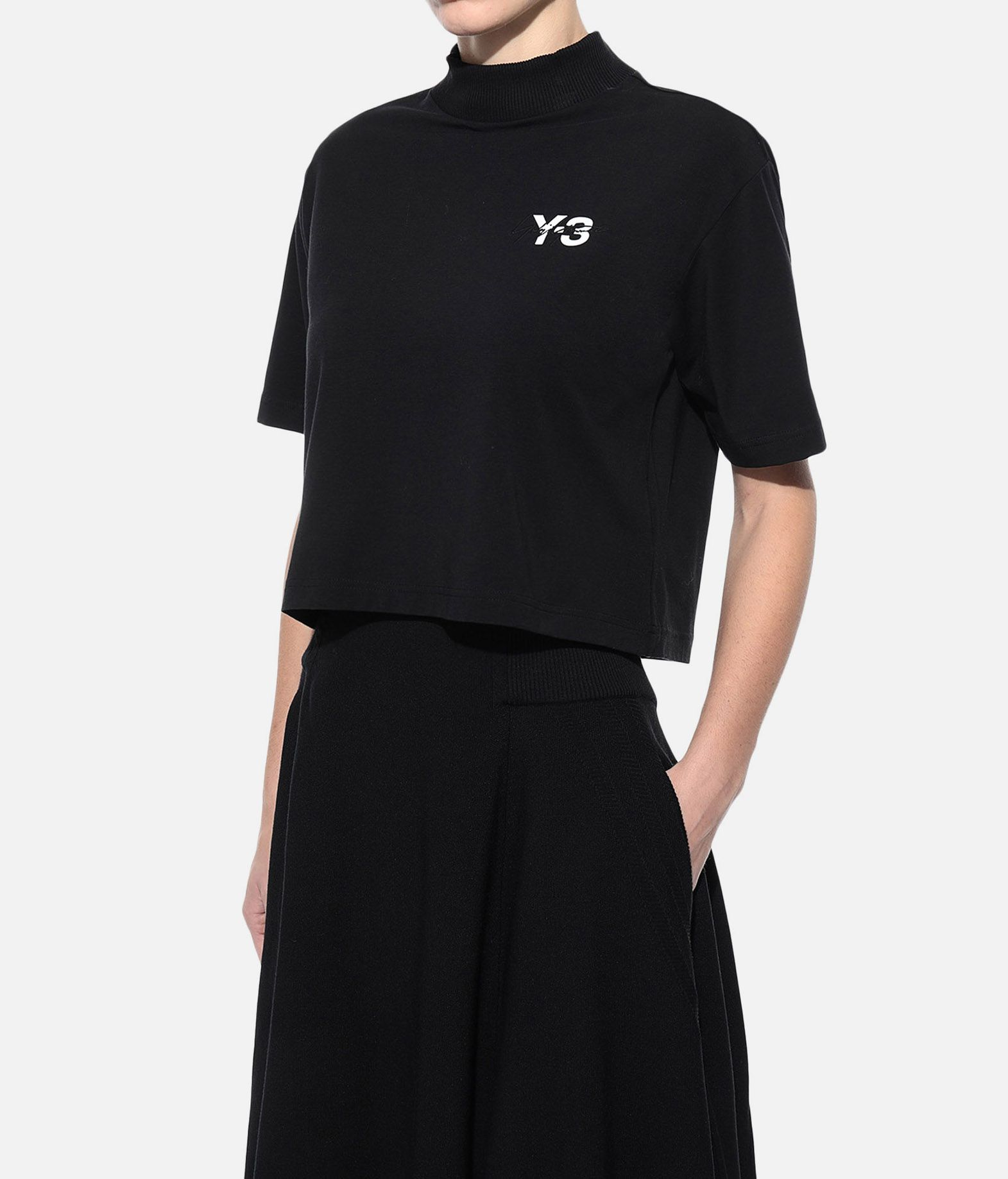 Y-3 Y-3 SIGNATURE CROP TEE Short sleeve t-shirt Woman e