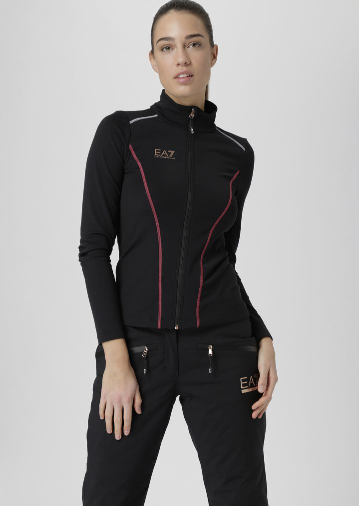 Breathable stretch technical ski fleece with zip  ffa64658c
