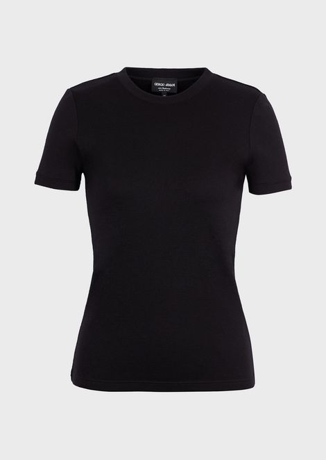 T-shirt in puro cashmere