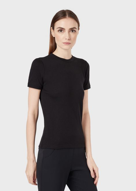 Pure cashmere T-shirt
