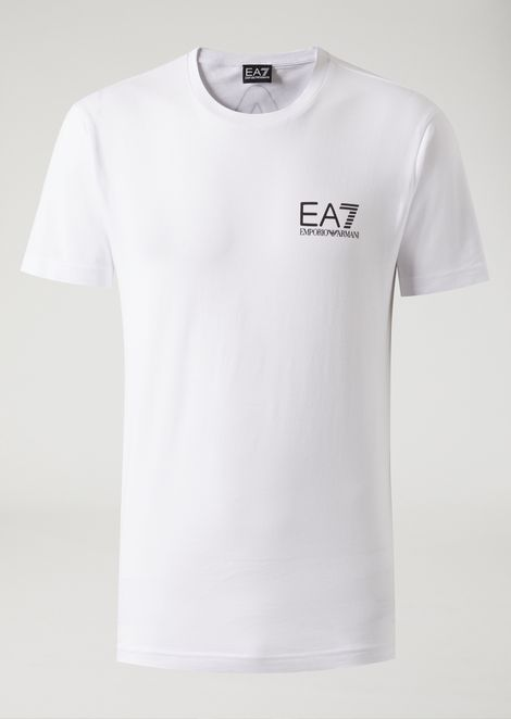 Pure cotton T-shirt with maxi logo on back
